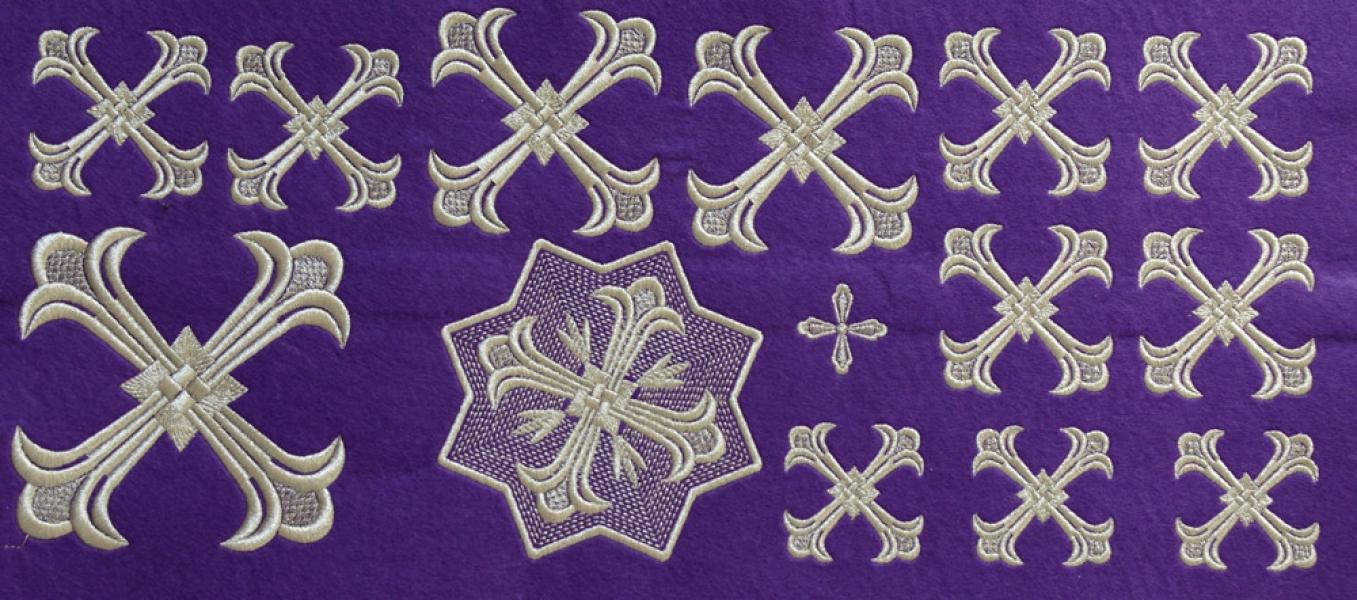 """Набор крестов для иерейского облачения """"Византия"""""""