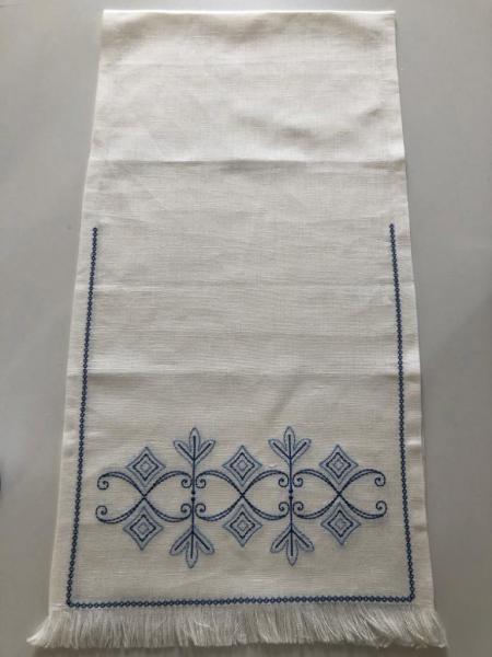 Рушник «Полиелей». Вышивка на льне. Размер 140 х 35 см