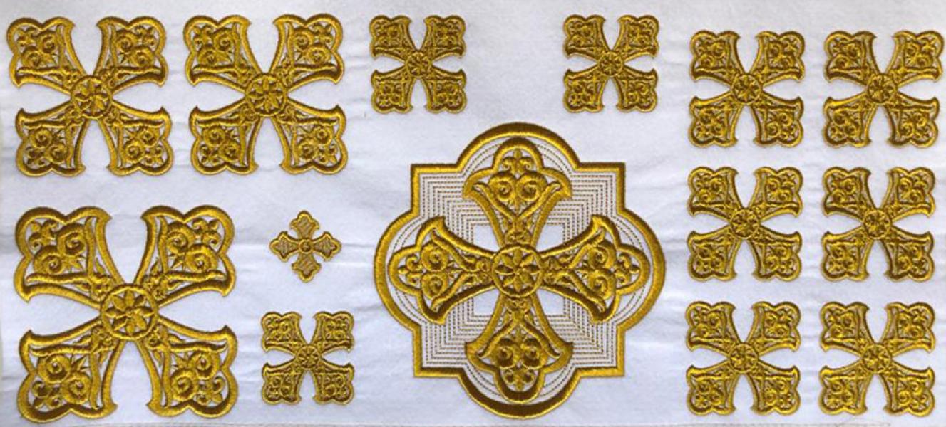 """Набор крестов для иерейского облачения """"Витой"""""""