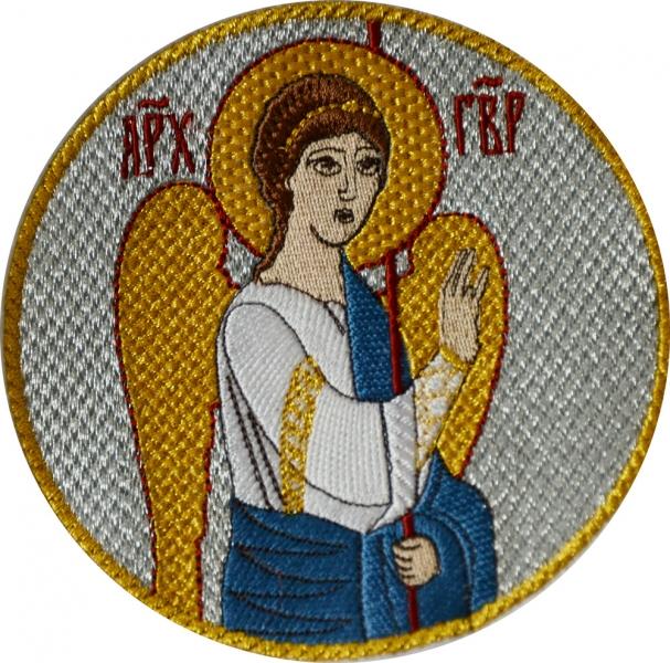 Вышитые иконы Благовещение и Евангелисты. Набор 6 икон на шевроне. Размер 11 х 11 см.