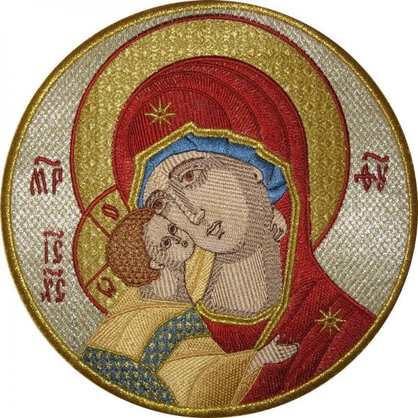 Владимирская икона Божией Матери,  икона вышитая
