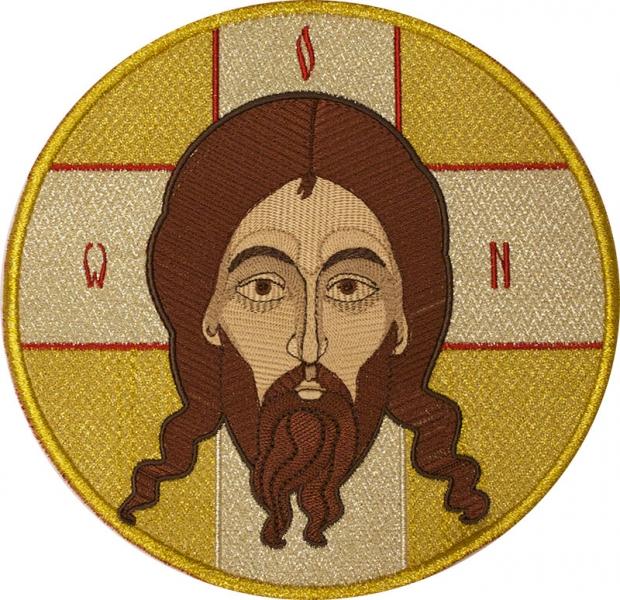 Спас Нерукотворный,  икона вышитая