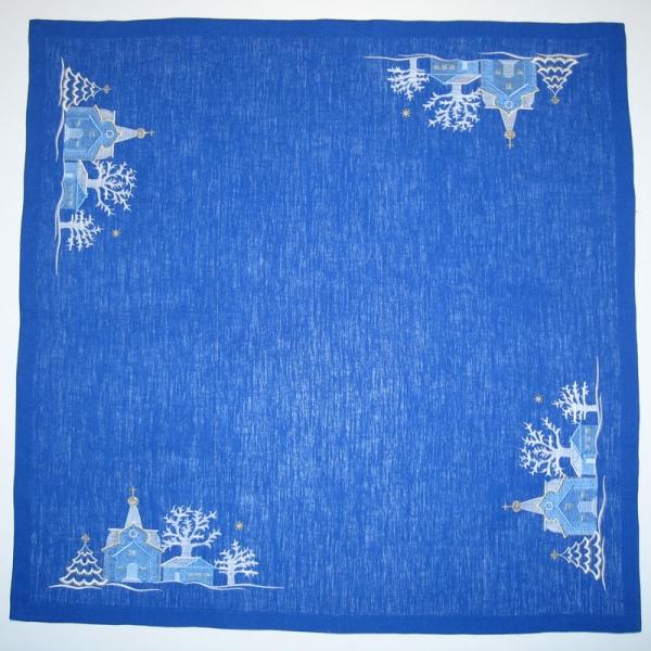 Скатерть вышивка «Рождественская ночь». Размер 85х85 см. Лен, шелковые нити