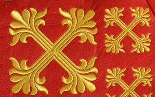"""Набор крестов для иерейского облачения """"Травка"""""""