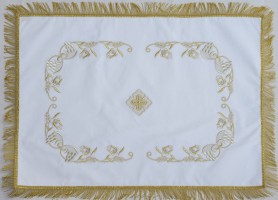 Воздух и покровцы вышивка «Преображение». Бархат цвет белый
