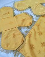 Воздух и покровцы вышивка «Виноградная лоза». Бархат желтый