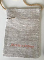 Сумочка паломника вышивка «Маки на льне». Лен, шелковые нити