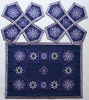 Воздух и покровцы вышивка «Звездица». Лен цвет фиолетовый
