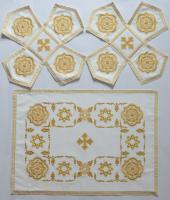 Воздух и покровцы вышивка «Звездица». Лен цвет белый