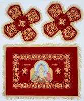 Воздух и покровцы вышивка «Воскресение Христово». Бархат красный