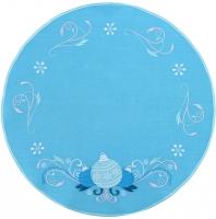Столовый комплект вышивка «Новогодние шары». Лен, шелковые нити
