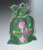 Мешочек подарочный  вышивка «Троица». Лен, шелковые нити
