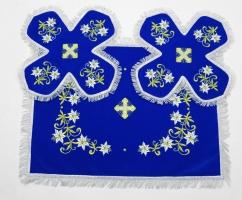 Воздух и покровцы вышивка «Лилии-2». Бархат цвет синий
