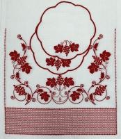 Венчальный рушник с салфетками «Виноградная лоза». Вышивка на льне. Размер 150 х 45 см