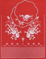 Венчальный рушник с салфетками «Белые цветы». Вышивка на льне. Размер 150 х 45 см